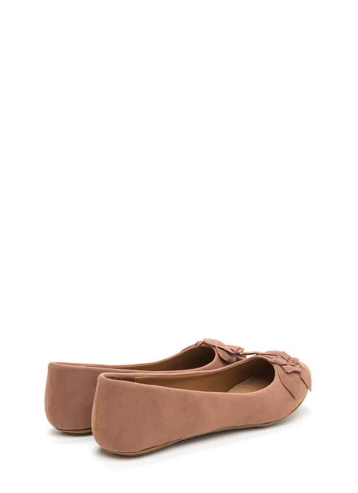 Fresh Fantasy Embroidered Ballet Flats CAMEL