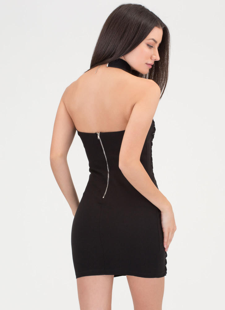 Fit To Be Tied Strapless Minidress BLACK (Final Sale)