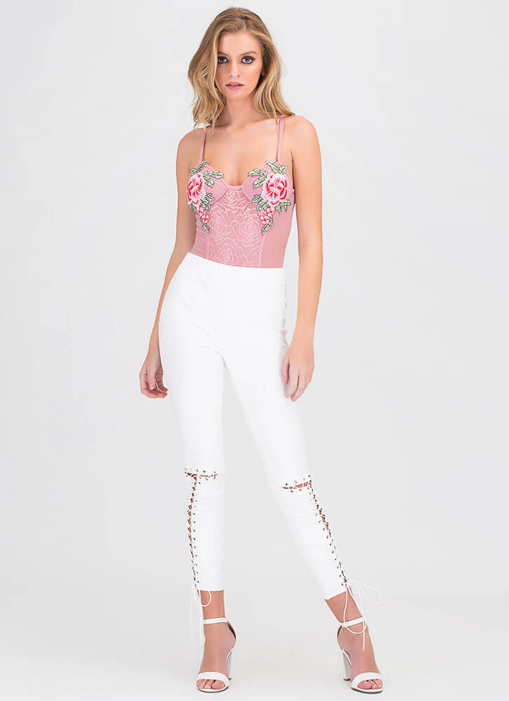 be420cf5f2485c Tied Up Now Faux Suede Leggings NUDE WHITE - GoJane.com