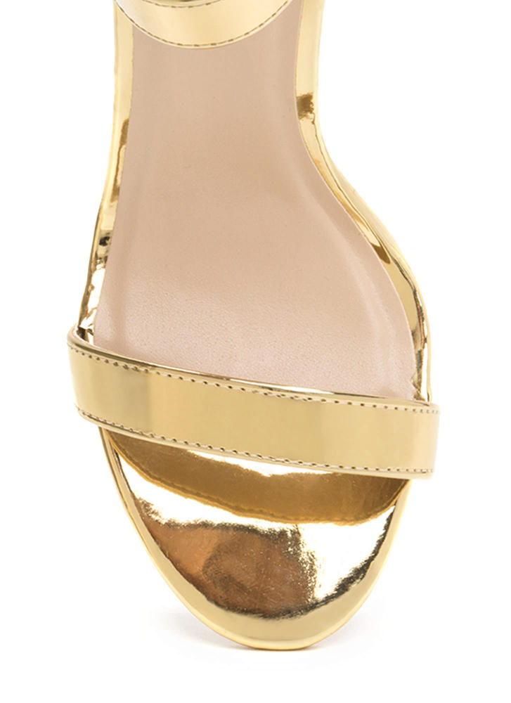 Special Event Chunky Metallic Heels GOLD