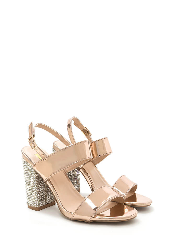 Radiant Design Chunky Metallic Heels ROSEGOLD (Final Sale)