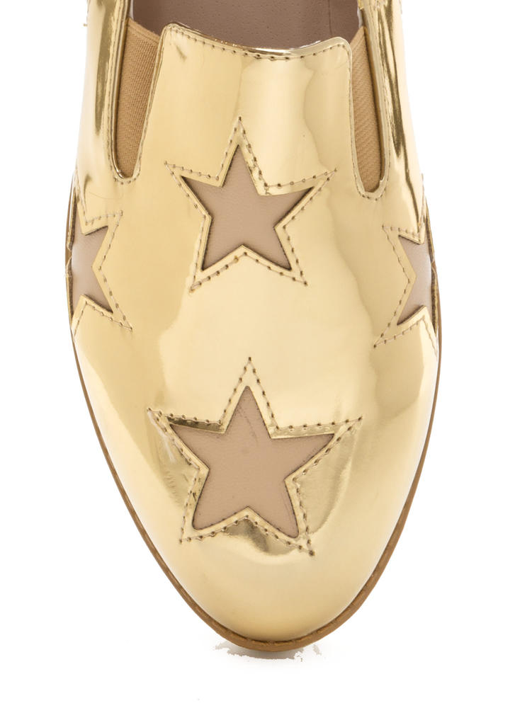 Stargazing Metallic Slip-On Sneakers GOLD
