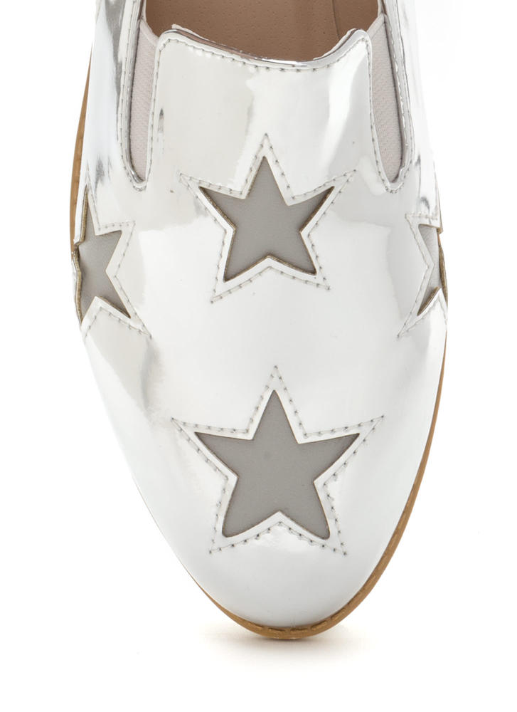 Stargazing Metallic Slip-On Sneakers SILVER