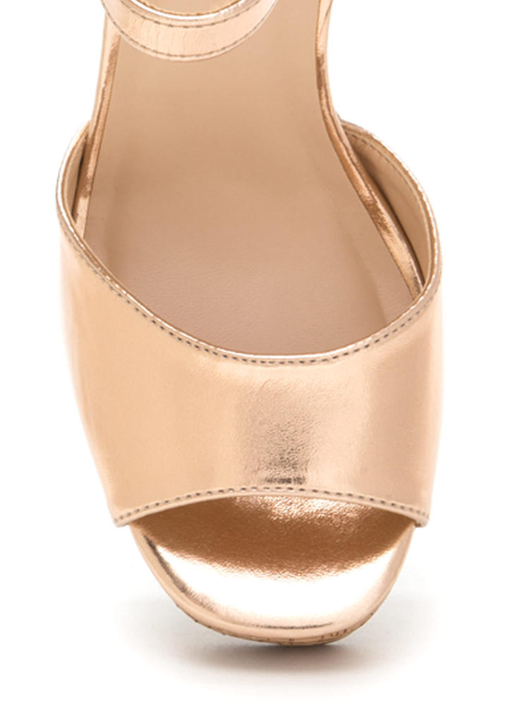 Seventies Queen Chunky Metallic Heels ROSEGOLD (Final Sale)