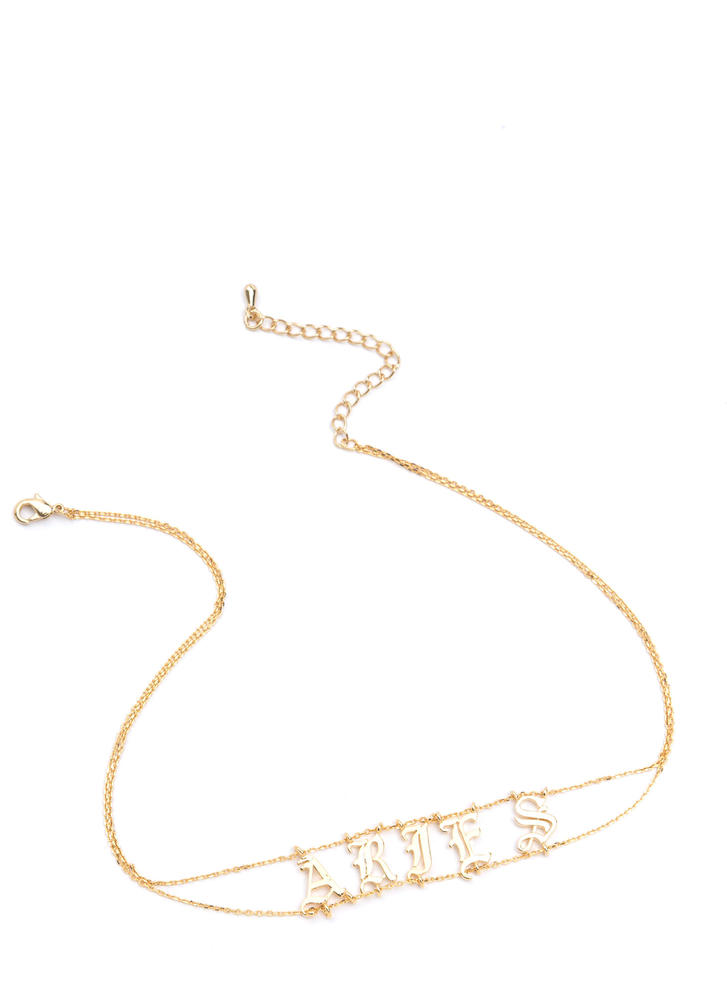 Astrology Talk Aries Chain Choker GOLD