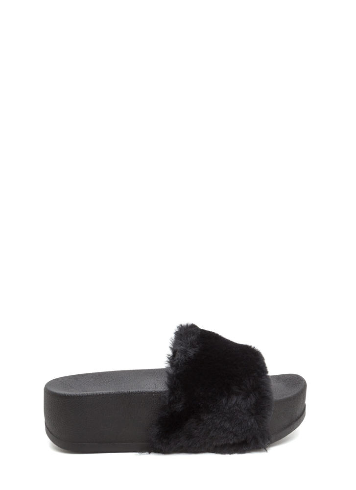 To Great Heights Platform Slide Sandals BLACKBLACK