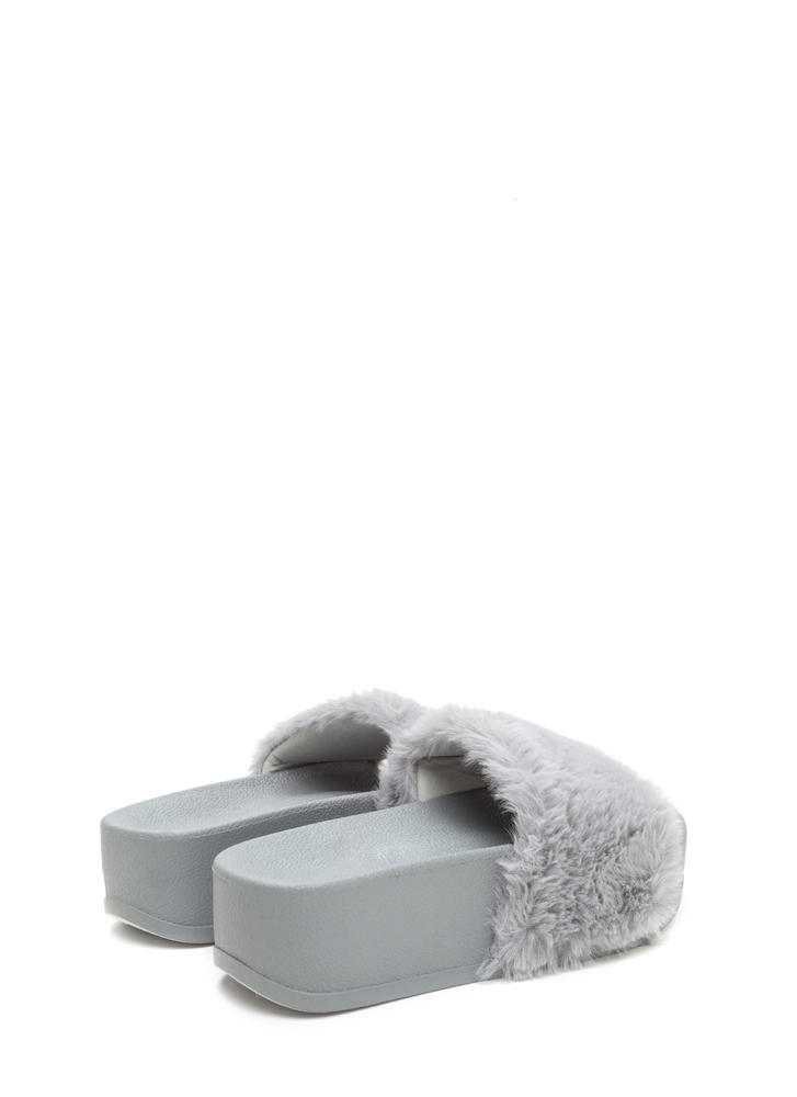 To Great Heights Platform Slide Sandals GREYGREY