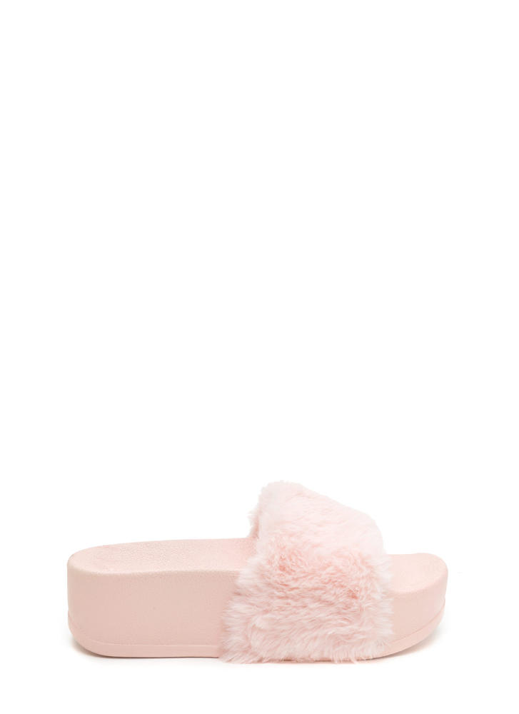 To Great Heights Platform Slide Sandals PINKPINK