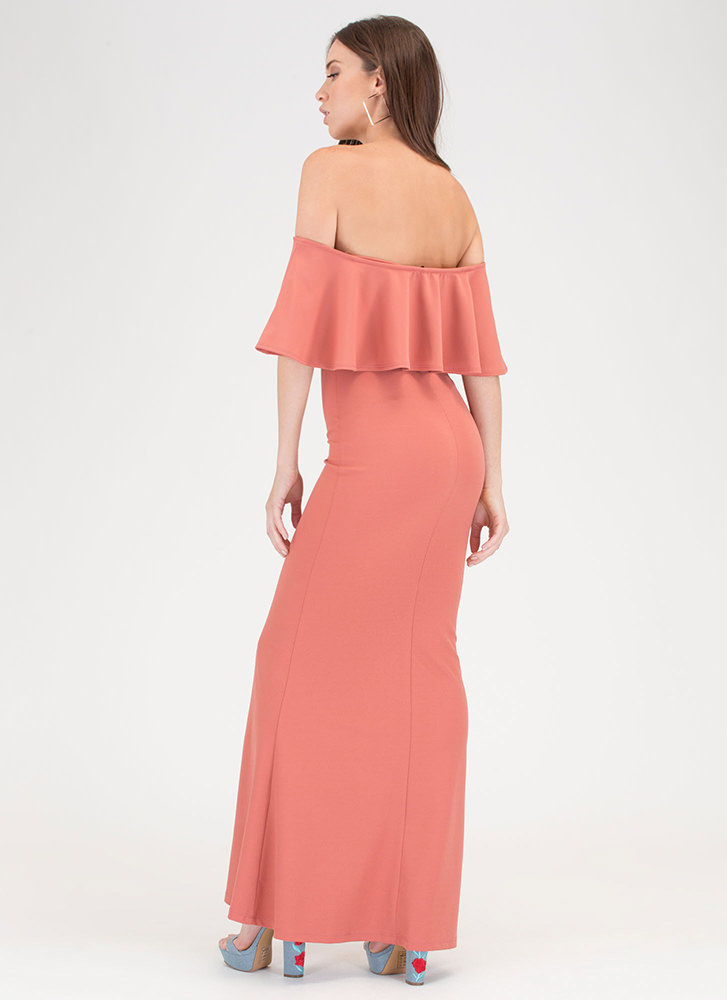 Fancy Me Off-Shoulder Mermaid Maxi ROSE