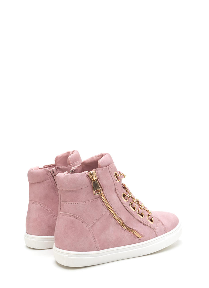 Mood Chain-ge High-Top Sneakers DUSTYPINK