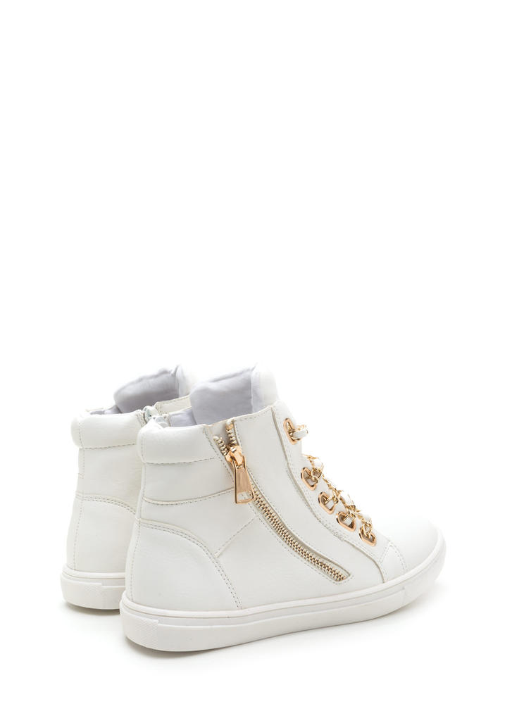 Mood Chain-ge High-Top Sneakers WHITE