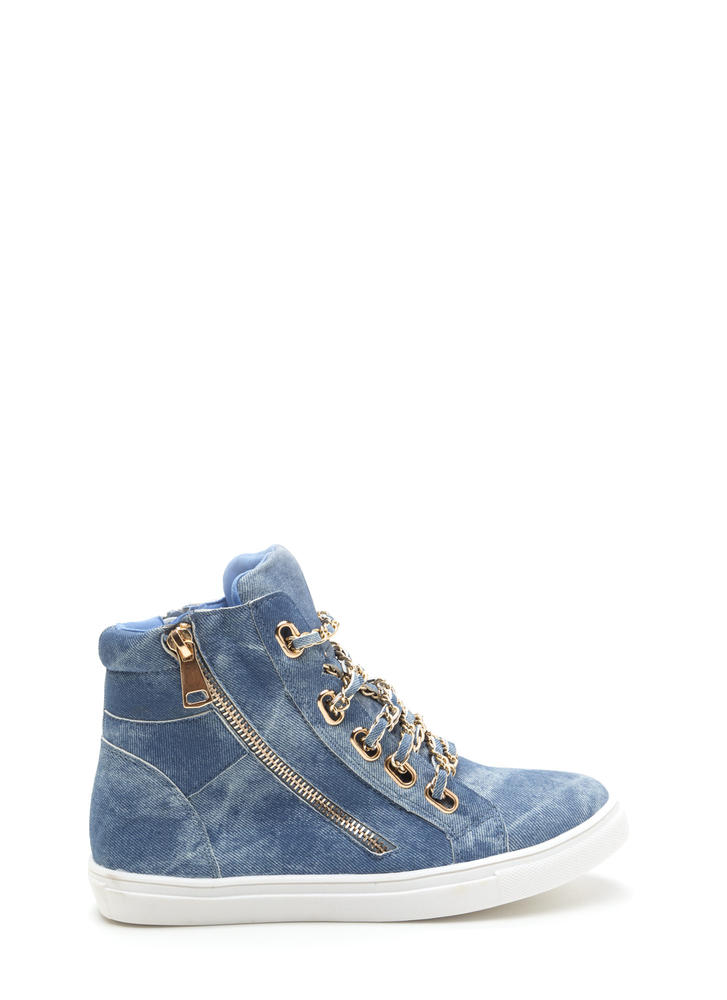 Mood Chain-ge Denim High-Top Sneakers DENIM