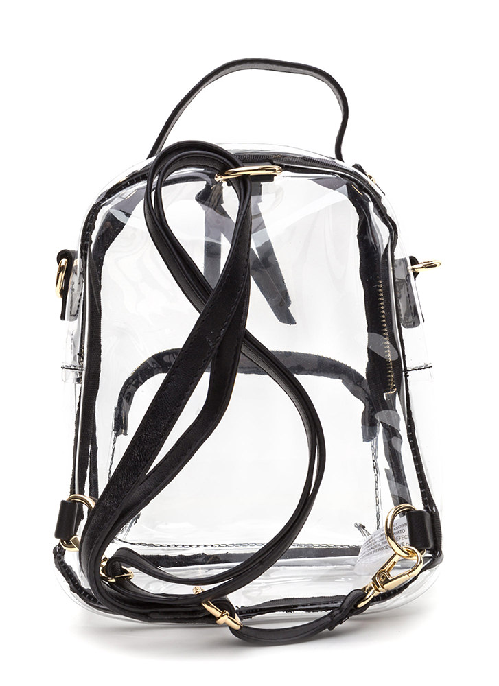 See Right Through You Mini Backpack BLACK