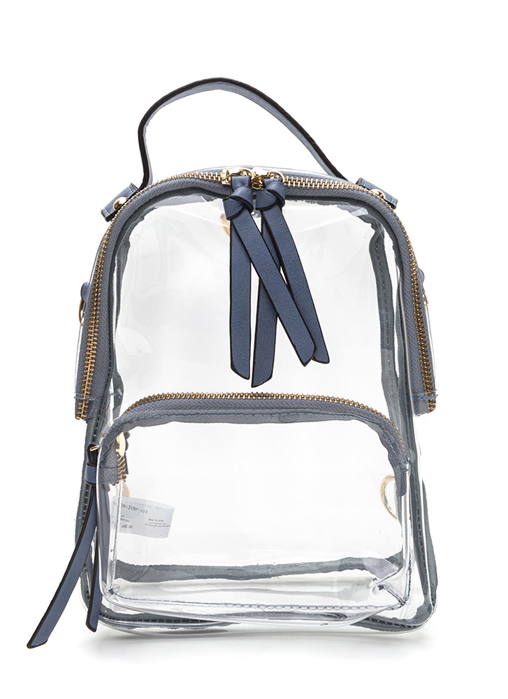See Right Through You Mini Backpack BLUE