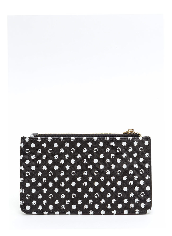 Treat Yourself Polka Dot Coin Purse BLACK (Final Sale)
