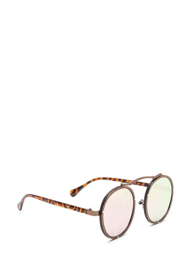 Round Of Applause Top Bar Sunglasses BROWN