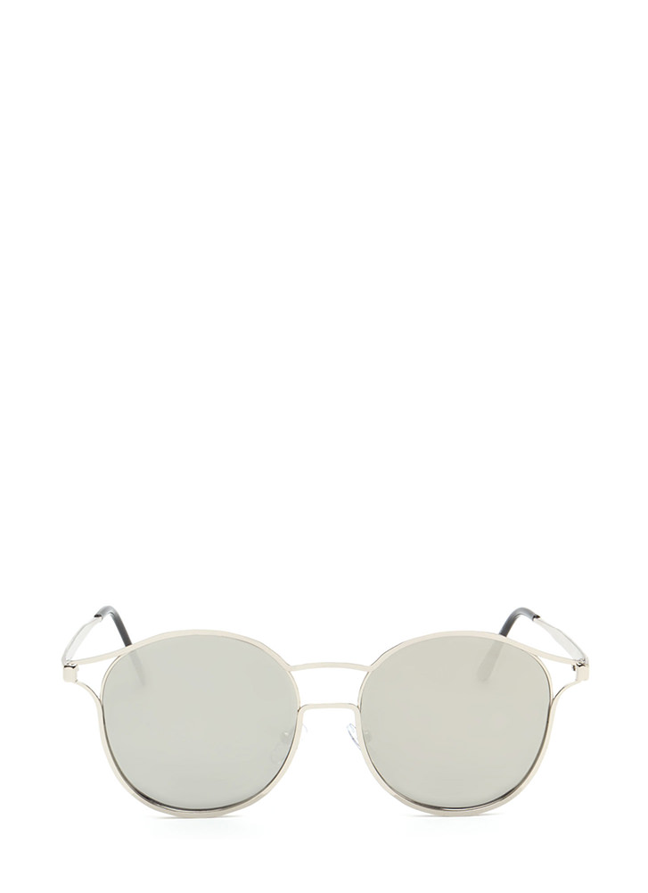 Make The Cut-Out Round Sunglasses SILVER