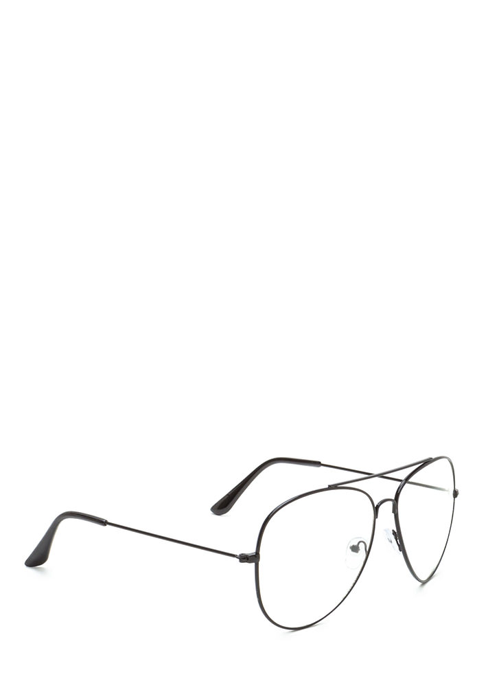 Chic Perspective Top Bar Glasses BLACK (You Saved $4)