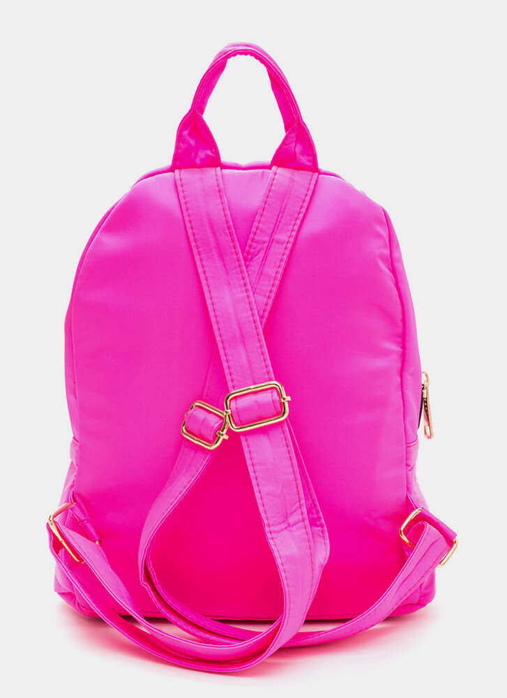 Set A Trend Chunky Zippered Backpack NEONPINK (Final Sale)