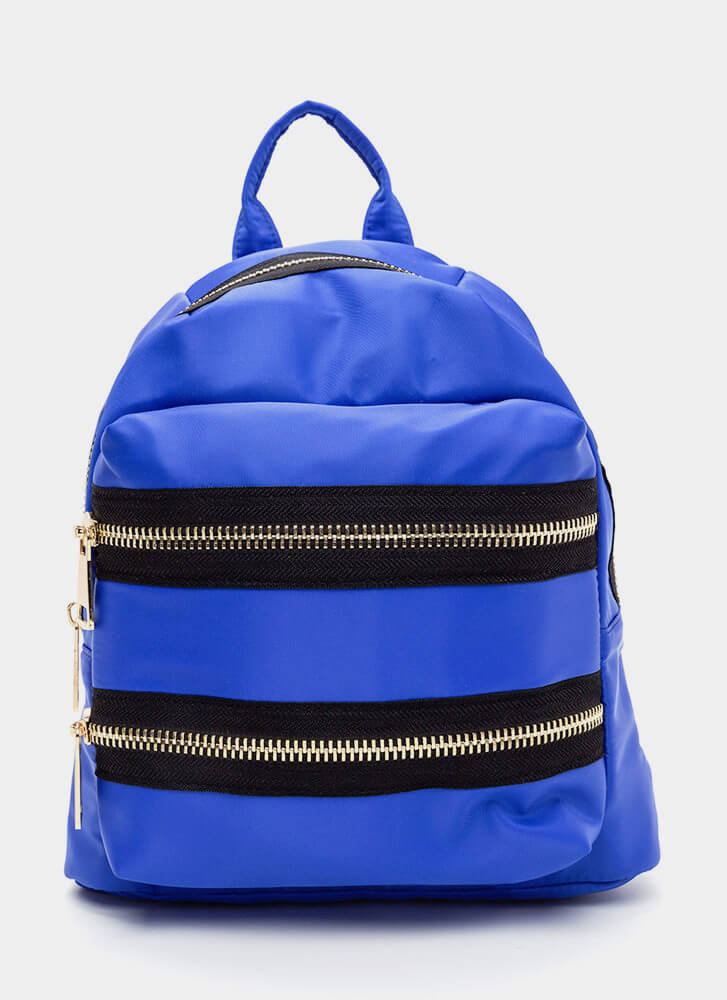 Set A Trend Chunky Zippered Backpack ROYAL (Final Sale)
