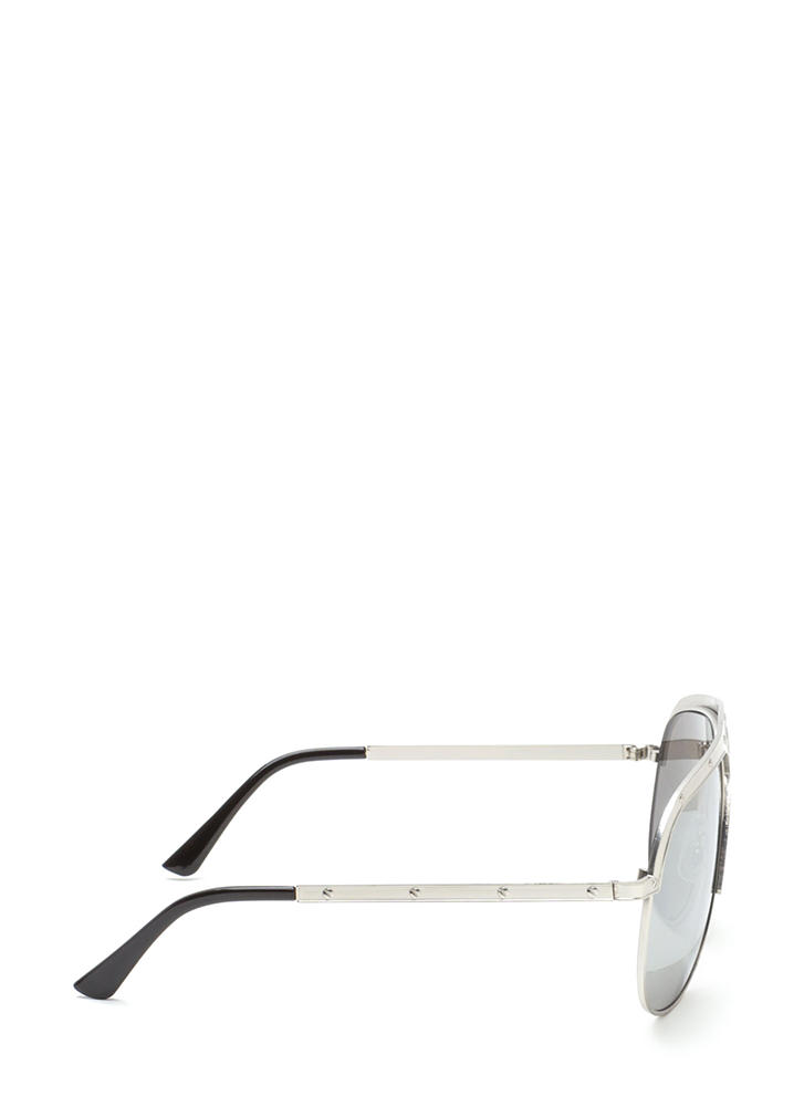 X Appeal Mirrored Oversized Sunglasses SILVER