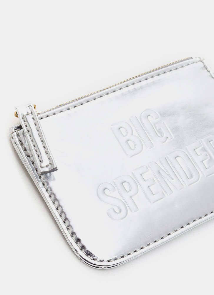 Big Spender Metallic Coin Purse SILVER