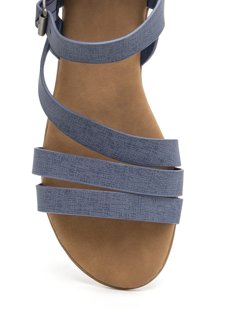 Jean On Me Strappy Faux Nubuck Sandals DENIM