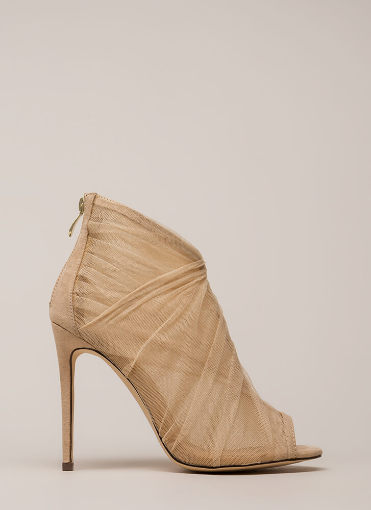 Sheer You Are Peep-Toe Heels NUDE