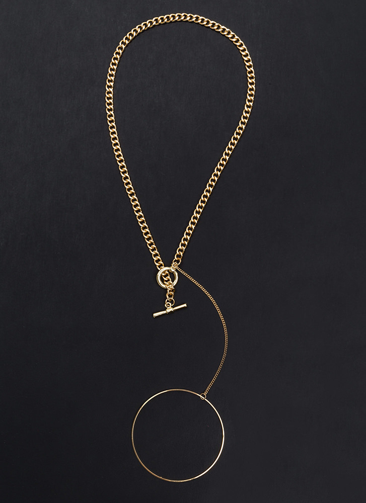Through The Hoop Chain Necklace GOLD