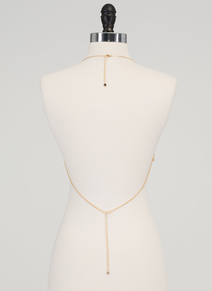 Ocean Front Style Draped Body Chain GOLD
