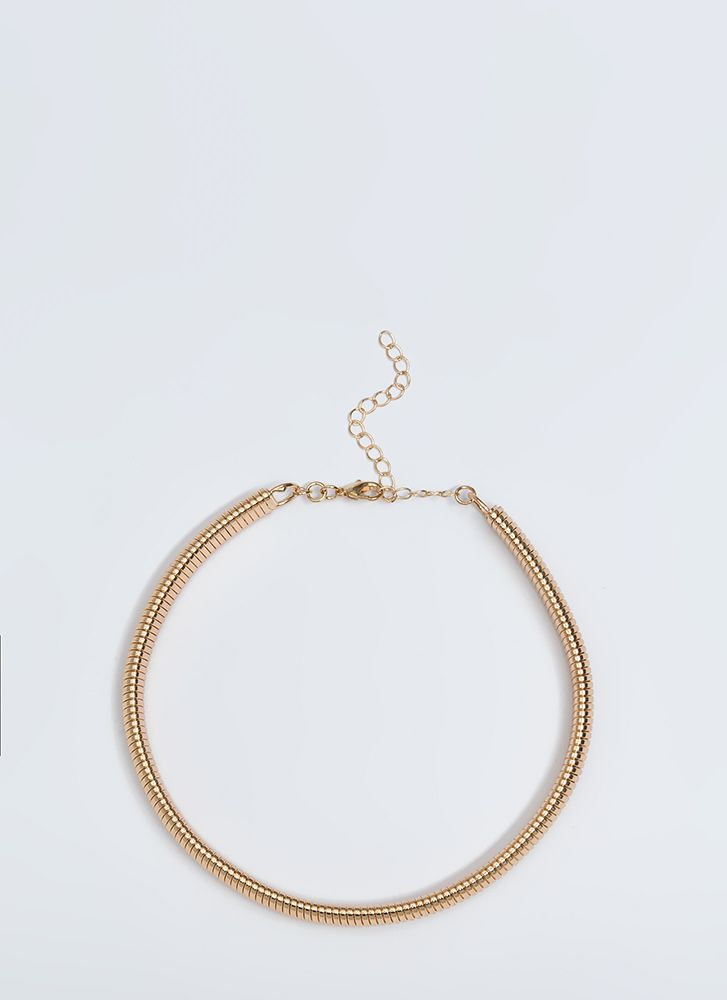 Evening Highlight Snake Chain Necklace GOLD