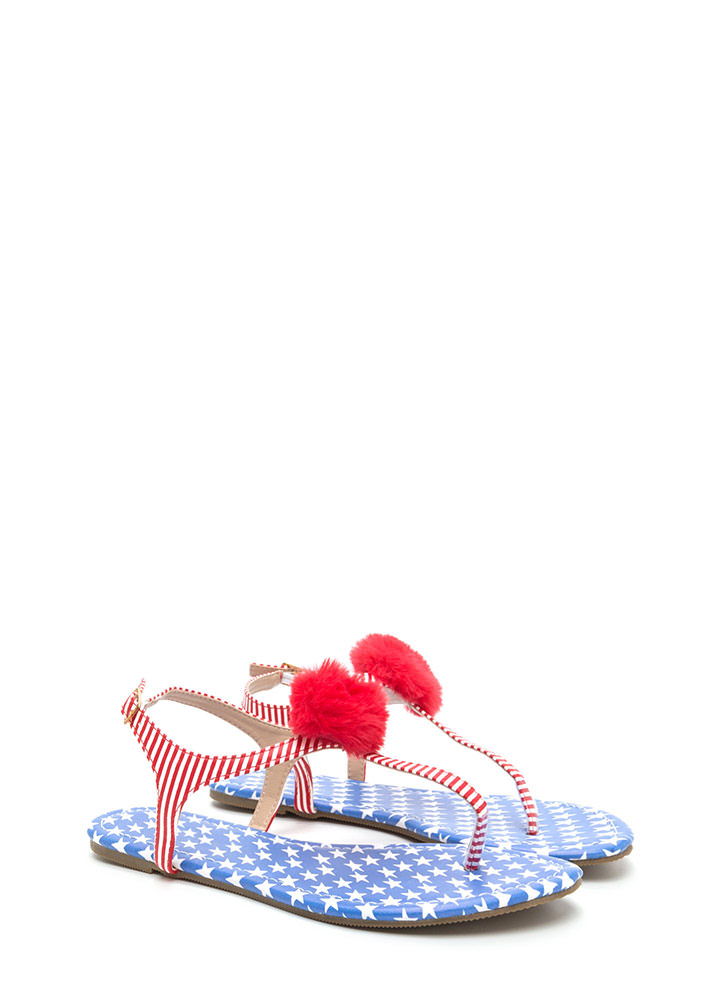 Day Off American Flag Thong Sandals FLAG