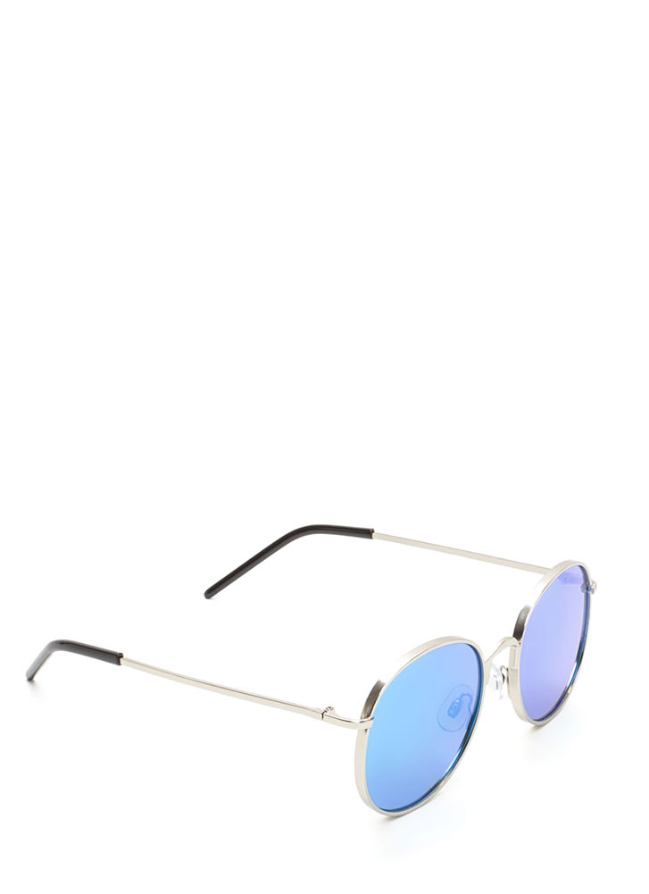 Round And Round We Go Sunglasses BLUESILVER
