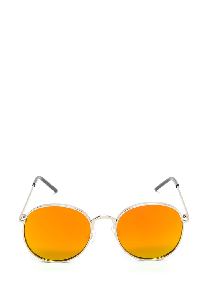 Round And Round We Go Sunglasses ORANGESLVR