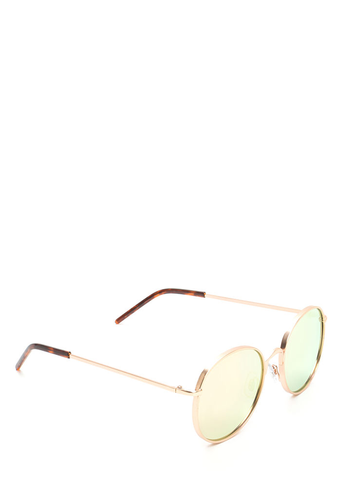 Round And Round We Go Sunglasses PINKGOLD