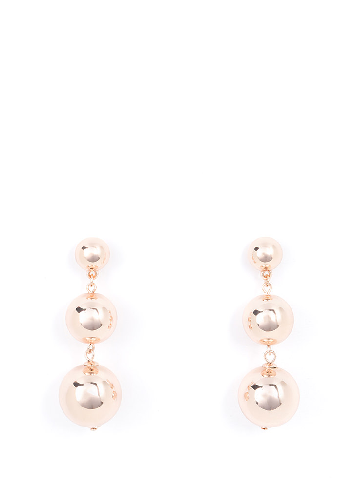 Sphere Of Influence Shiny Earrings ROSEGOLD