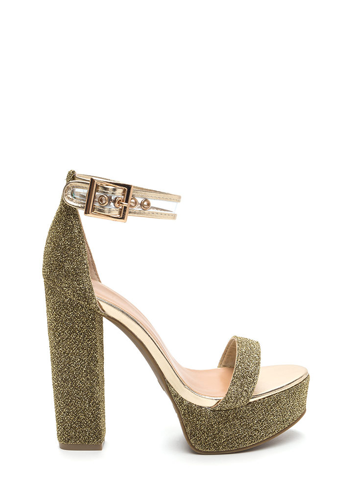 Leading Light Chunky Metallic Heels GOLD - GoJane.com