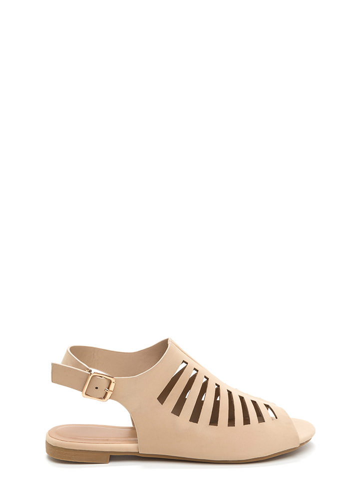 Top Of The Line Cut-Out Caged Sandals NUDE