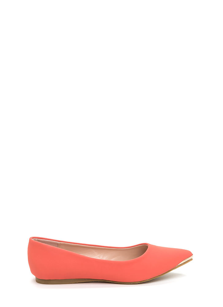 Good Point Faux Nubuck Flats CORAL