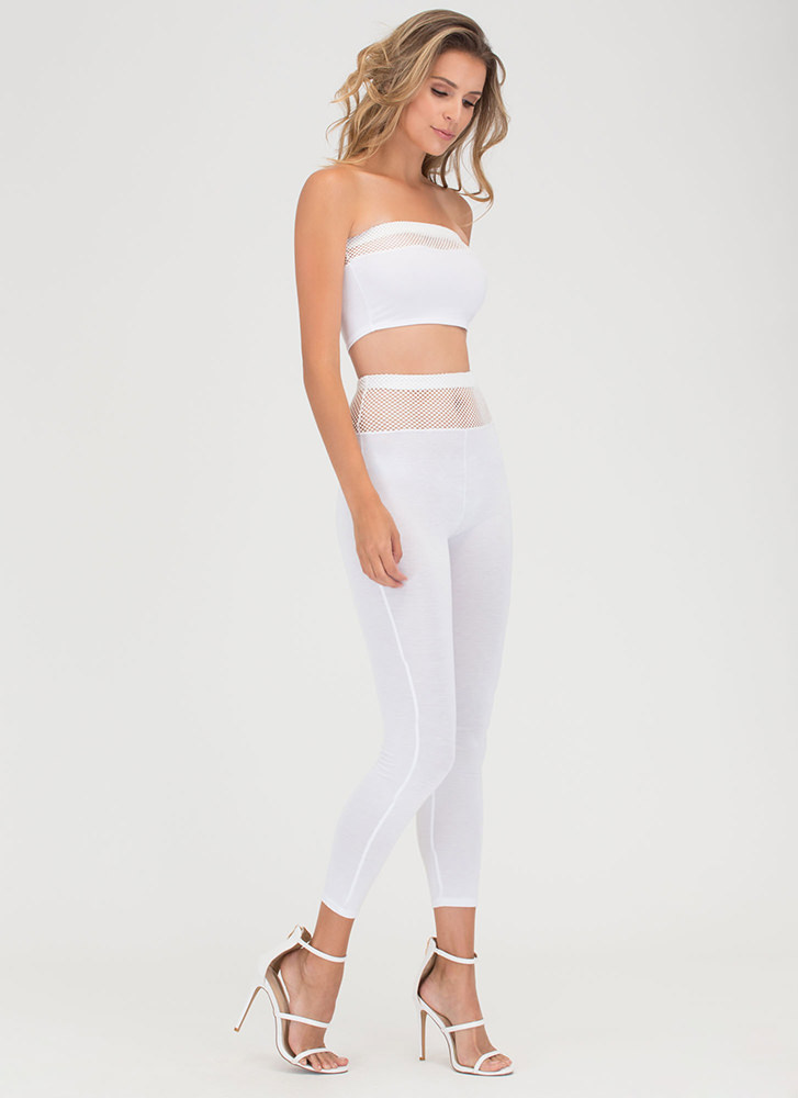 Surf The Net Bandeau Top 'N Bottom Set WHITE