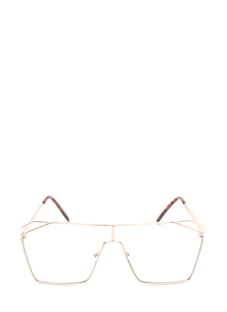Around The Corner Oversized Glasses GOLD