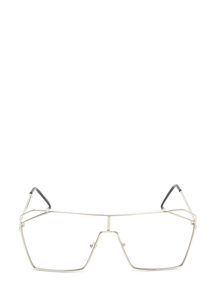 Around The Corner Oversized Glasses SILVER