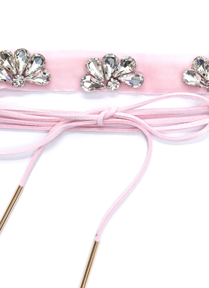 Way Two Cool Jeweled Choker Duo PINK