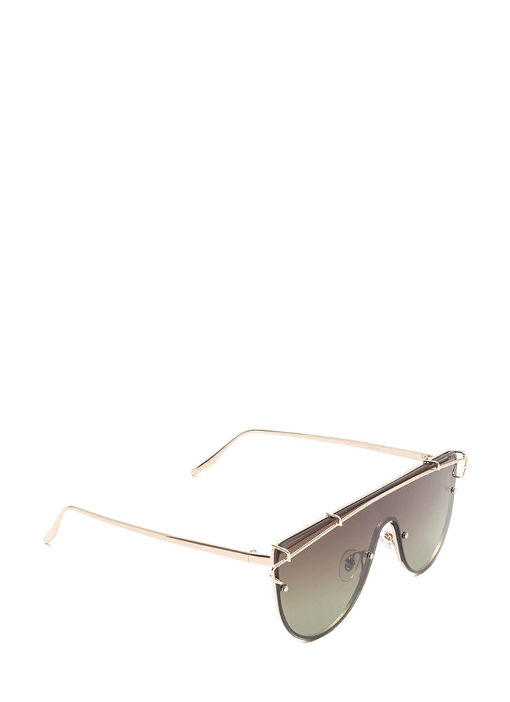 Color Your World Goggle Sunglasses OLIVE