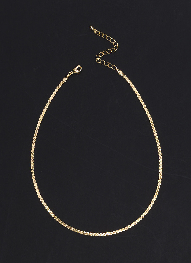 S Is For Skinny Chain Choker GOLD