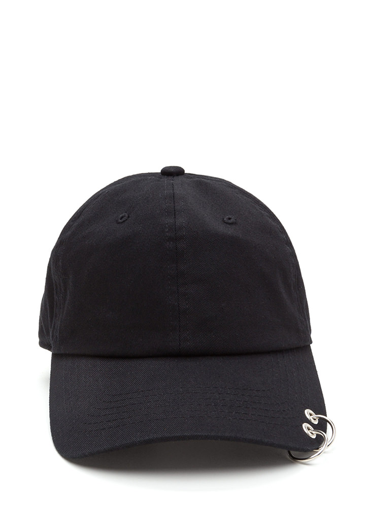 Double Feature Hoop Baseball Hat BLACK