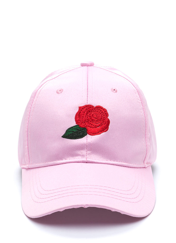Wild Rose Satin Baseball Hat PINK (Final Sale)