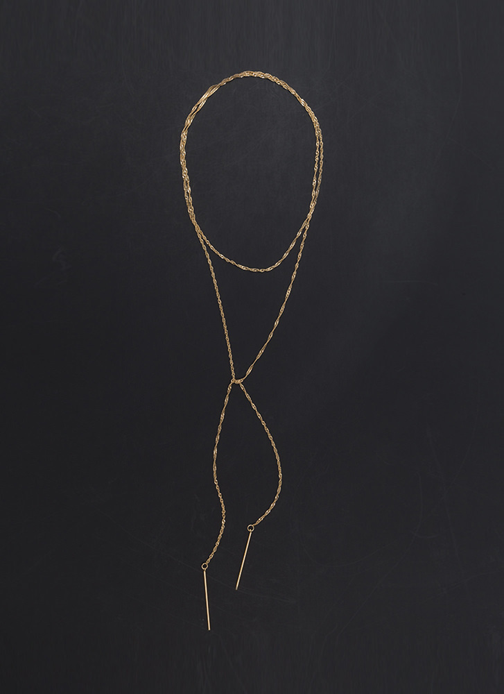Simply Irresistible Helix Chain Necklace GOLD