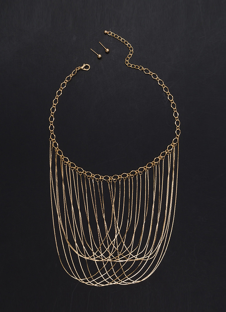 New Chain-ge Layered Necklace Set GOLD