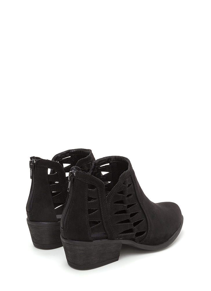 Daily Flow Cut-Out Chunky Booties BLACK